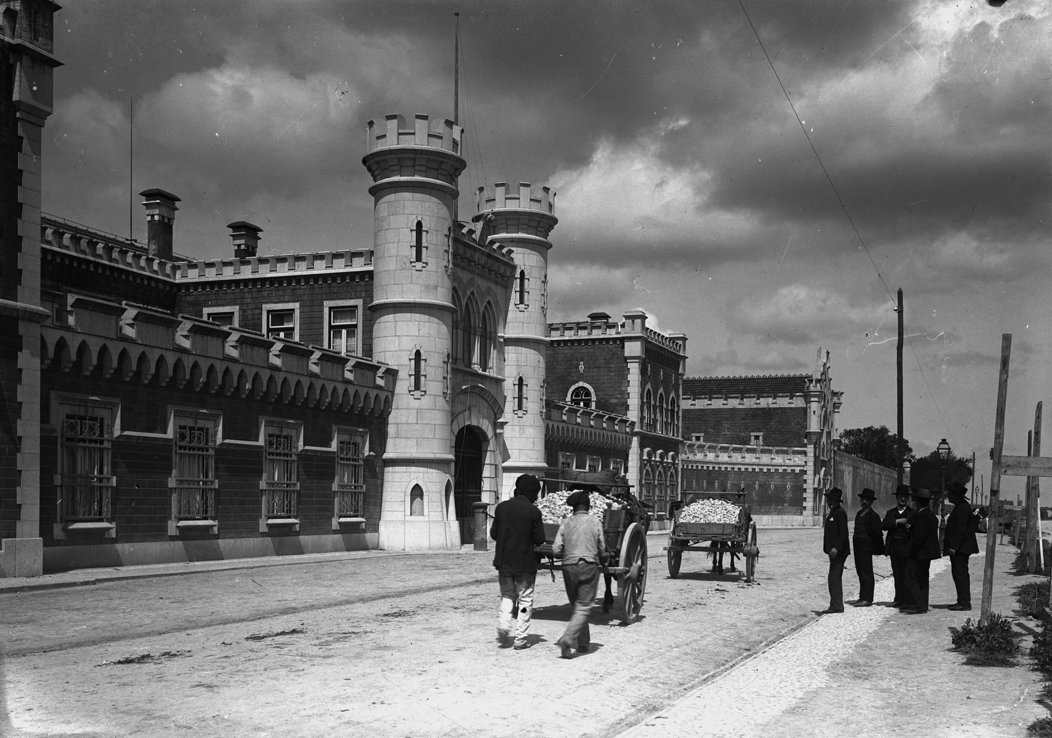 Transporte de pedra junto à Penitenciária, Lisboa (P.Guedes, c. 1910)
