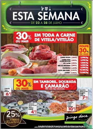 Antevisão Folheto PINGO DOCE Promoções de 22 a 28 julho - online