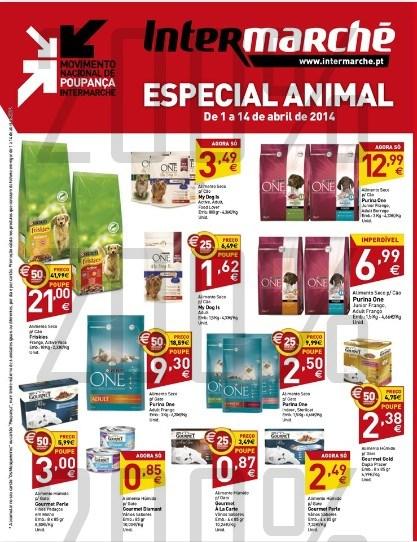 Antevisão folheto | INTERMARCHÉ | de 1 a 14 abril - Especial Animal