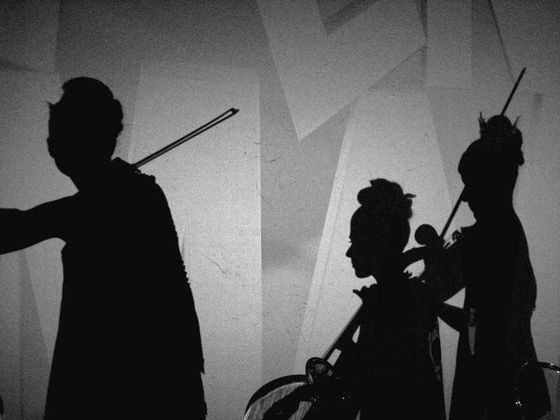 a sombra da música