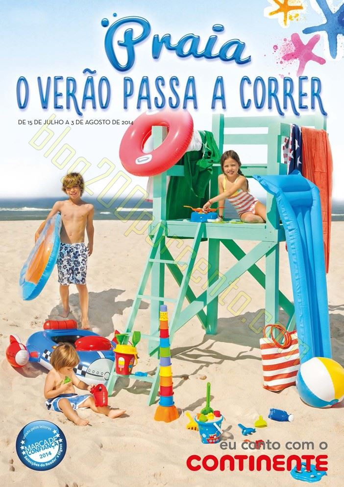 Novo Folheto CONTINENTE - Praia - de 15 julho a 3 agosto