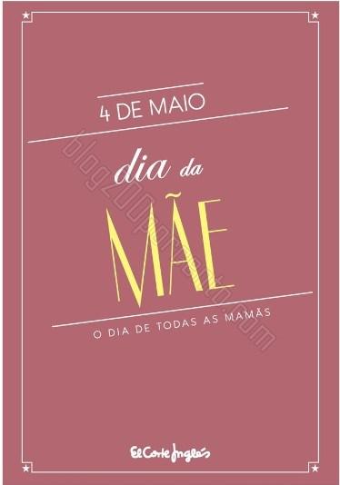 Novo folheto | EL CORTE INGLÉS | Dia da Mãe