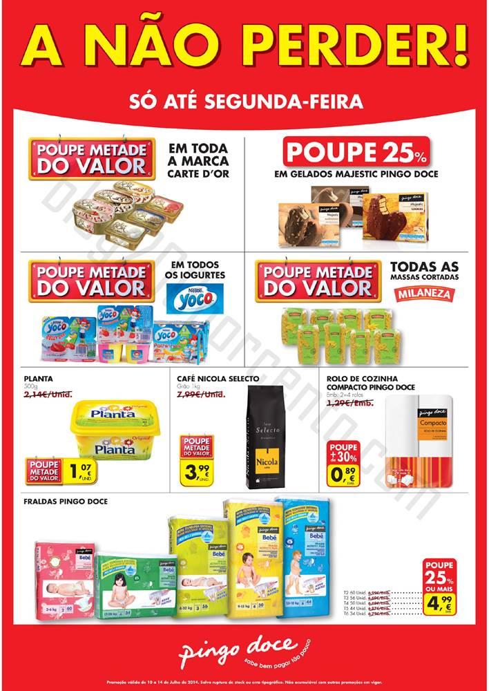 Novo Folheto PINGO DOCE - A não perder até 14 julho