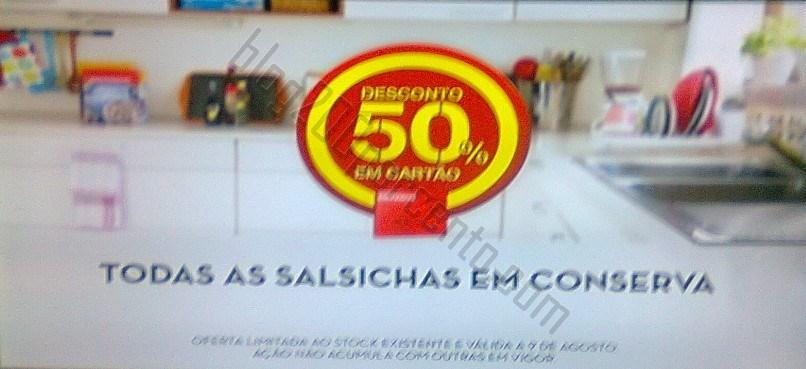 50% de desconto CONTINENTE a 9 agosto - Salsichas conserva