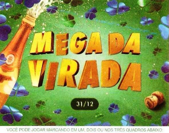 Mega Sena da virada concurso 1560 dia 31/12