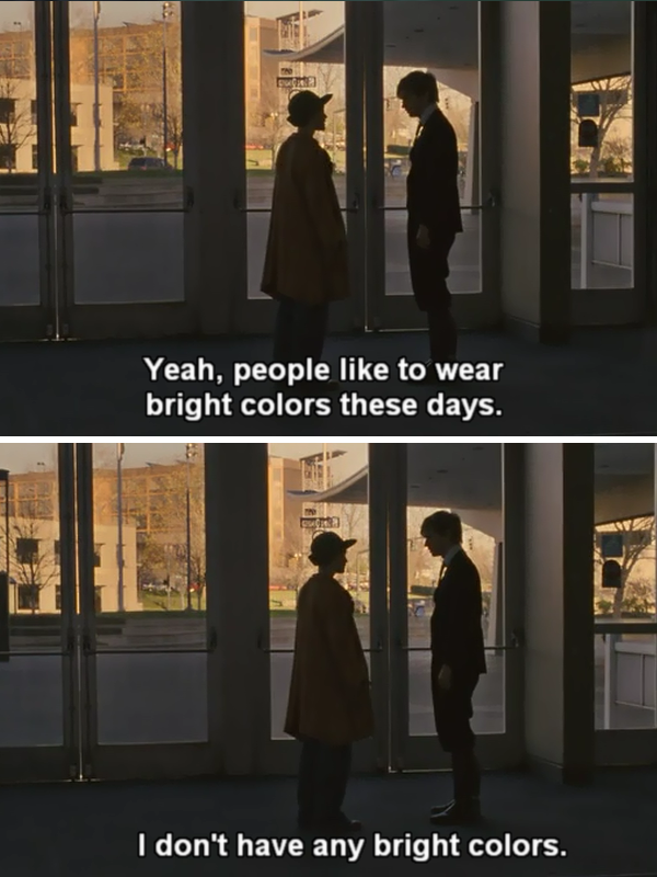 I don't have any bright colors