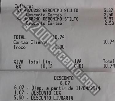 Resultado do uso do talão de 5€ em 10€ de livros | CONTINENTE |