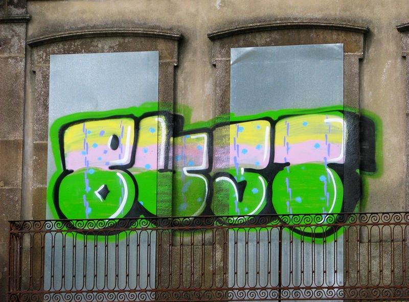 grafiti na varanda