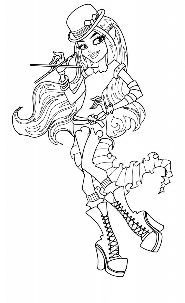 Desenhos Para Colorir Das Monster High E Imprimir Brinquedos De
