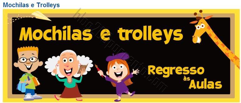 Promoções TOYSRUS Mochilas e Troleys