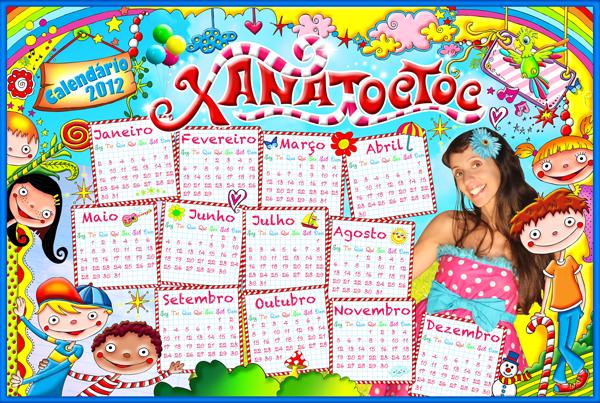 XANA TOC TOC - Calendário 2012