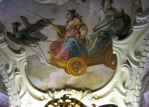 tecto de biblioteca em Praga