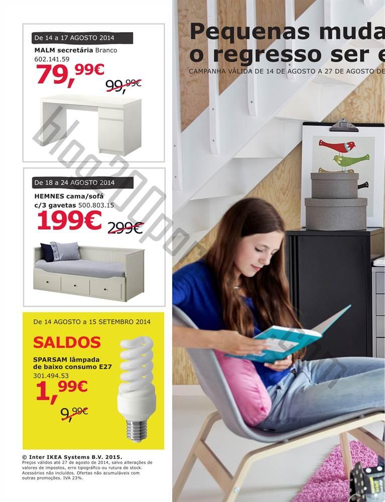 Novo Folheto IKEA Regresso às aulas de 14 a 27 agosto