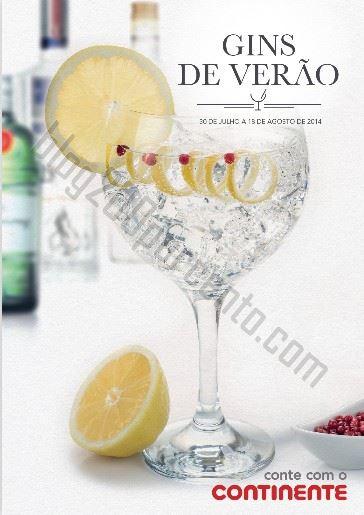 Folheto CONTINENTE Gins de verão até 18 agosto