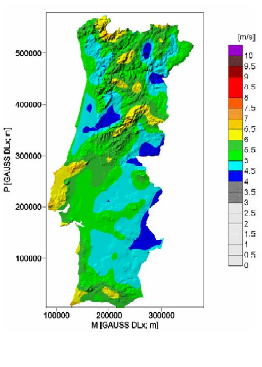 mapa de ventos de portugal Velocidade do vento/ Velocidad del viento/ Wind Speed   Livre  mapa de ventos de portugal