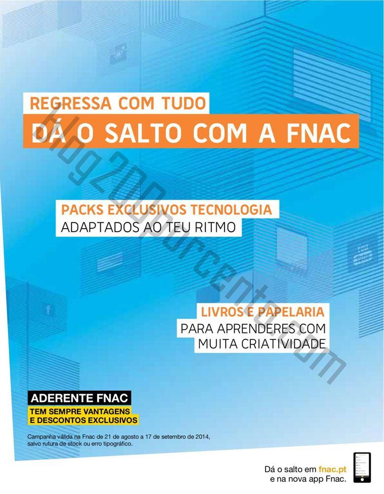 Novo Folheto FNAC Regresso às aulas até 17 setembro