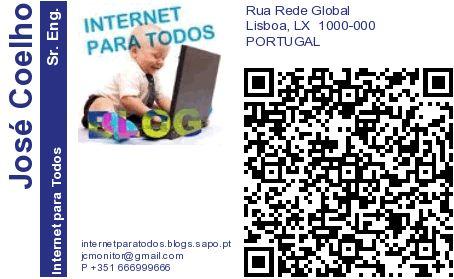cartão de visita código qr