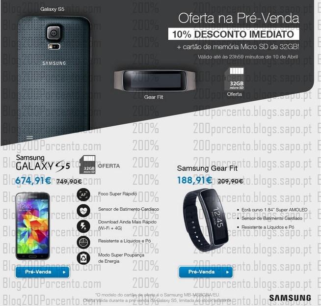 Pré Venda | FNAC | Samsung Galaxy S5 até 10 abril - Ofertas