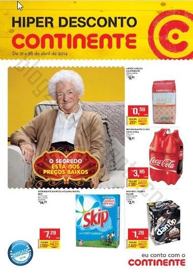 Novo folheto   CONTINENTE   de 21 a 28 abril - Online