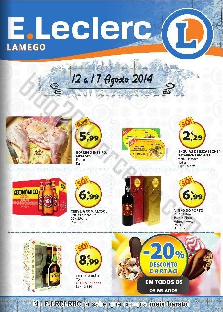 Antevisão Folheto E-LECLERC Lamego Promoções de 12 a 17 agosto