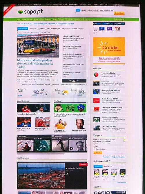 Nova Homepage Sapo
