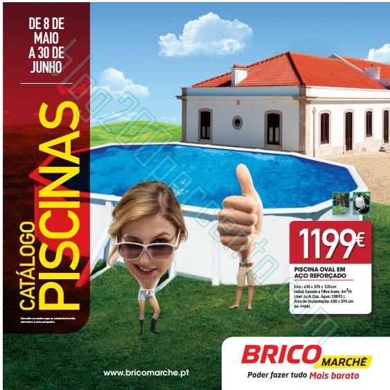 Folheto   BRICOMARCHÉ   Piscinas até 30 junho