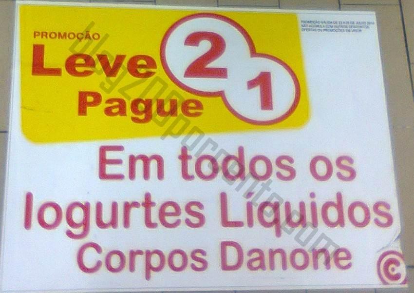 Leve 2 Pague 1 CONTINENTE Iogurtes Corpos Danone até 24 julho