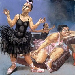 Paula Rego, As avestruzes bailarinas, pormenor do tríptico
