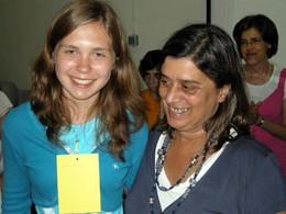 Alina, aluna moldava, conquistadora do 2º Prémio