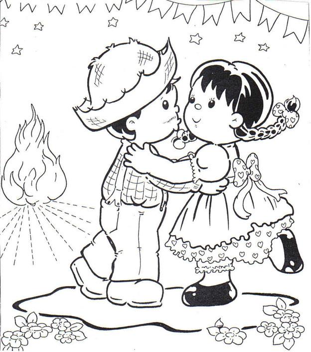 Desenho De Festa Junina Para Imprimir E Colorir
