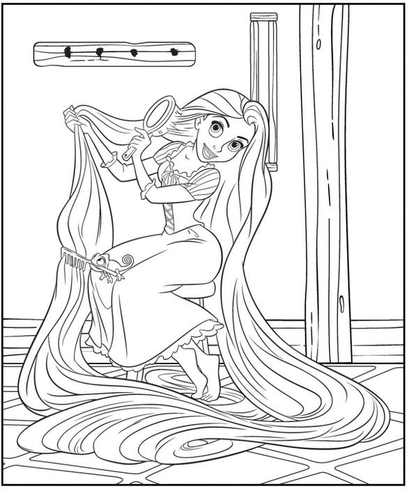 Princesa Rapunzel Para Colorir Desenhos Para Pintar Da Disney
