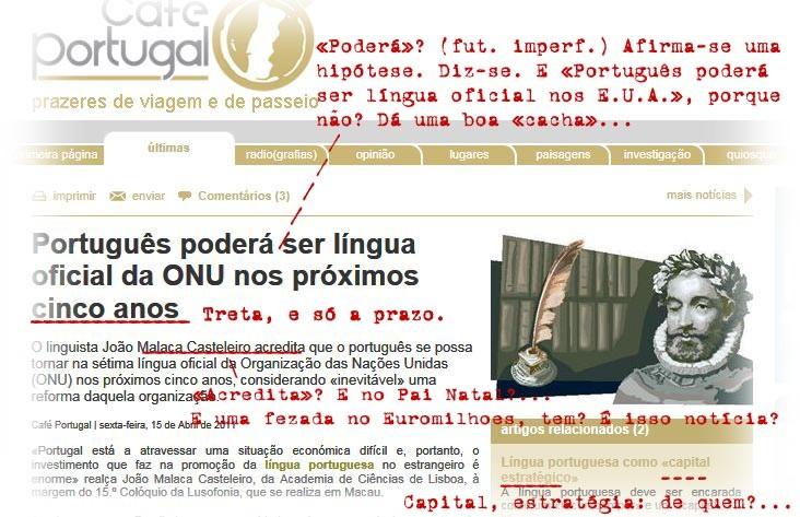 Notícia da treta (Café Portugal, 15/4/2011)